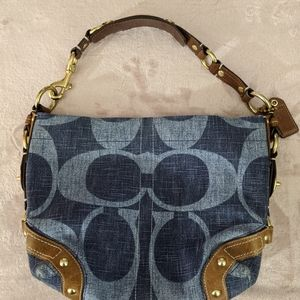 Coach Denim and Leather Bag